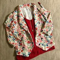 @theruralsewist Blazer Pattern, Cami, Kimono Top, Seasons, Instagram, Watercolour, Fabrics, Tops, Dresses