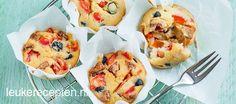 Makkelijk recept voor hartige muffins met chorizo, olijven en paprika