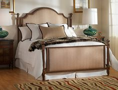 We bought this for one of our guest bedrooms in the Hemp Santorini fabric.  Absolutely gorgeous bed!  And made in America.
