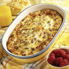 Bob Evans breakfast casserole, uses crescent rolls