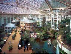 Gaylord Opryland Hotel - lush indoor gardens, winding rivers, pathways and sparkling waterfalls