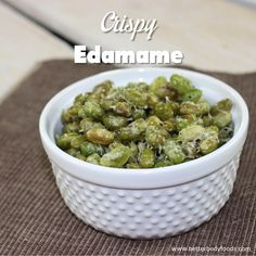 Delicious, healthy snack made with BetterBody Foods Coconut Oil. This crispy edamame sprinkled with a little parmasean cheese and some slat and pepper, makes for a nice snack.