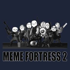 Camisa azul de Meme del equipo de la fortaleza 2 d por buy_all_the_stuff