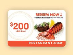 With savings at more than 62,000 restaurants and providers nationwide, you can celebrate with friends, food, and fun! Restaurant.com is a great way to explore new restaurants and save at old favorites, from down the street to out-of-town flavors to quality meals at home. You'll also indulge in just about every cuisine, from all-American and steaks to Thai and Mexican.  To use your deal visit dine.restaurant.com and select a restaurant or provider. Print the certificate to use while dining...