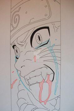 Ninetailed Naruto Uzumaki by SakakiTheMastermind on DeviantArt Naruto Sketch Drawing, Naruto Drawings, Anime Drawings Sketches, Anime Sketch, Manga Drawing, Manga Art, Cute Drawings, Anime Naruto, Naruto Fan Art