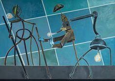 Nader Ahriman Minneapolis, Minnesota, Track Lighting, Contemporary Art, Images, Ceiling Lights, Figurative, Painting, Berlin