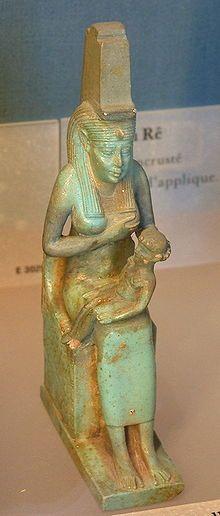 Mother goddess - A statue of Isis nursing Horus, housed in the Louvre Isis Goddess, Mother Goddess, Egyptian Goddess, Nut Goddess, Ancient Egyptian Religion, Ancient History, Ancient Greek, Art History, Ancient Goddesses