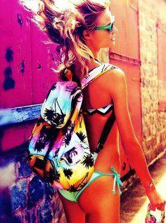 Neon colorful backpack #neon #colorful #backpack www.loveitsomuch.com