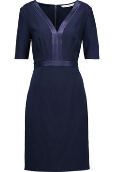 Diane von Furstenberg Maisie satin-trimmed stretch-crepe dress