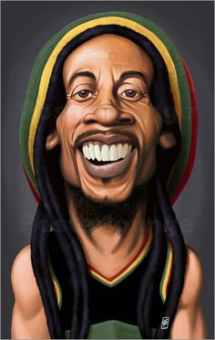 Rob Snow | caricatures - Bob Marley art | decor | wall art | inspiration | caricatures | home decor | idea