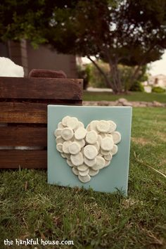 Someday Crafts: Sea Shell Collage == would be fun with shells