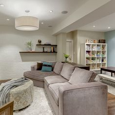 """Nothing says """"I'm here for your comfort"""" like a basement sectional that you can fall into at the end of the day! Inspiration of relaxation from China Towne Furniture & Mattress in Solvay, New York www.chinatowne.com #chinatownefurniture"""
