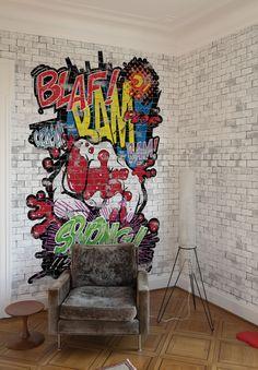 Wallpaper Model BAM! SOCK! Designed by Riccardo Zulato for Collection 12 | © London Art 2012  www.londonartwallpaper.com www.londonart.it