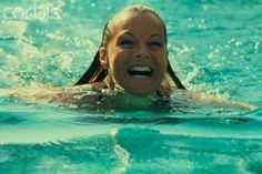 Actress Romy Schneider during her Sicilian Holidays