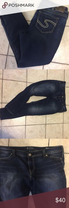 SILVER plus jeans SUKI MID super skinny sz 20. Good condition. Super stretch for comfy jeans. Ask any questions. Final sale. Bundle and save! Silver Jeans Jeans Skinny