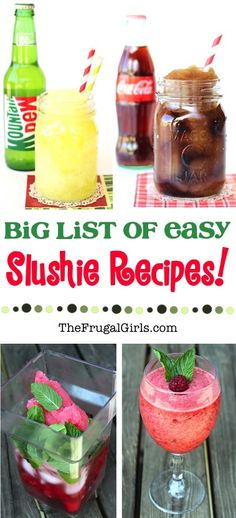 Best Slushie Recipes! ~ from TheFrugalGirls.com ~ you will LOVE this big list of delicious Slushies you can make at home!  Easy and SO refreshing on a hot day!