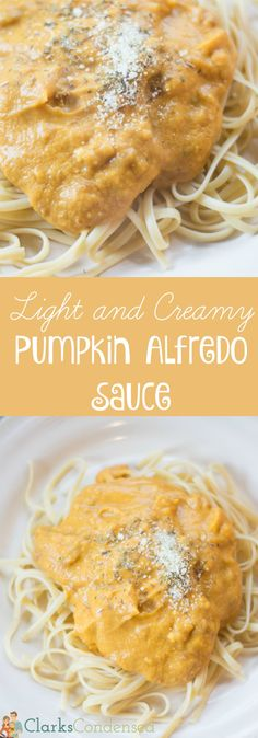 AMAZING, CREAMY, and DELICIOUS - this pumpkin alfredo sauce will probably become your new favorite dish.