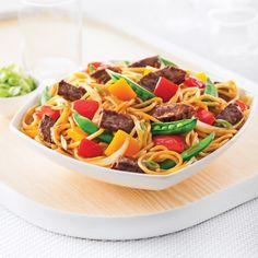 Nouilles teriyaki au boeuf - Recettes - Cuisine et nutrition - Pratico Pratique
