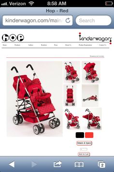 Kinderwagon double umbrella stroller. (Must have!)