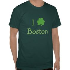 Today Only! $5 OFF ALL T-SHIRTS To Get Your Summer Style On! I Love Boston Shamrock Green Tee