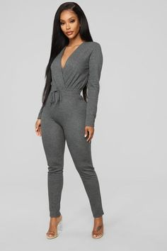 fe496a10a45 Anberlin French Terry Jumpsuit - Charcoal Buy Dress