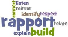 Helpful Rapport Building Behaviors...  rapport = getting on well with another person, or group of people
