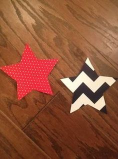 Set of Stars Iron On Applique You Choose Fabric by EllaBaDellas