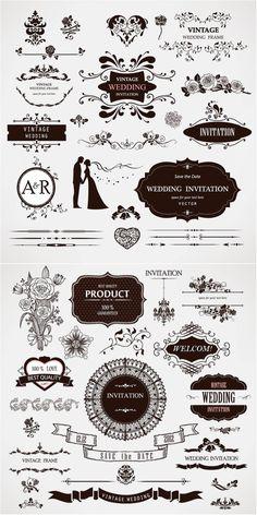 Wedding decor vector   Vector Graphics & Vector Illustrations