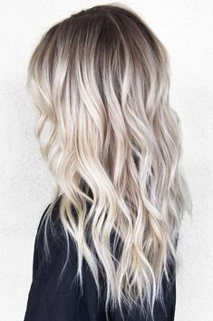 Perfect Ash Blonde Hair Color 2018 2 Fresh Platinum Balayage Hair Colors for Long Straight Hair in 2019 40 Blonde Ombre Hair Color Ideas for Women Trending This Year Platnium Blonde Hair, Platinum Blonde Hair Color, Blonde Hair Shades, Platinum Blonde Balayage, Blonde Color, Icy Blonde, Blonde Hair With Dark Roots, Blonde Long Hair, Short Blonde