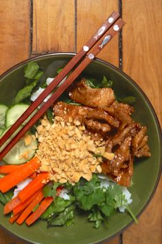 Skip the takeout! This tastes exactly like the Bun Thit Nuong (Vietnamese grilled pork) you get in the restaurants!