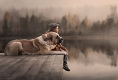 A child and their dog! An everlasting bond!