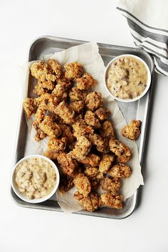 Popcorn Chicken Fried Steak - The Candid Appetite - Top Sirloin or Top Round Steak in Cubes, Eggs, Milk, Flour, Cornstarch, Oil, Seasoning, Gravy!