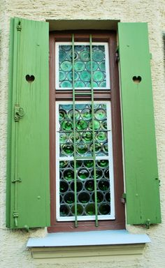 Shutters and a window in Ampfing, Germany