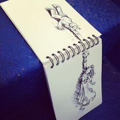 Les dessins interactifs de David Troquier - http://www.2tout2rien.fr/les-dessins-interactifs-de-david-troquier/