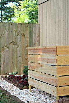 DIY air conditioner screen - how to hide air conditioning unit backyard design diy ideas Cheap Landscaping Ideas, Fence Ideas, Diy Fence, Backyard Patio, Backyard Landscaping, Backyard Ideas, Nice Backyard, Backyard Privacy, Florida Landscaping