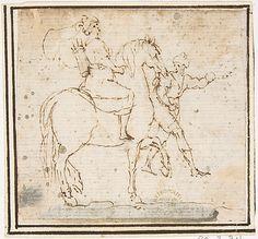 Attributed to Francesco Allegrini (Italian, 1615/20–after 1679). Man on Horseback with Attendant, 1624–63. The Metropolitan Museum of Art, New York. Gift of Cornelius Vanderbilt, 1880 (80.3.311) #horses