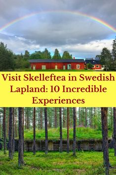 Thinking of a trip to Swedish Lapland? Find out more about why you should visit Skelleftea in Swedish Lapland in summer, winter, and all year round!