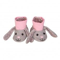 organic patterned booties - bunny
