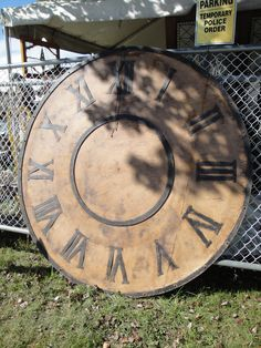 Very large clock, Brimfield Time Time, Time Out, Big Wall Clocks, Large Clock, Craft Ideas, Clocks, Large Wall Clocks, Diy Ideas, Big Clocks