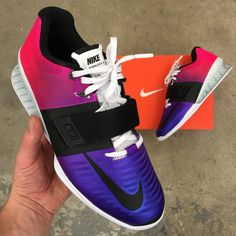 165520cf65b5 Custom Painted Ombre Gradient Nike Romaleos 3 Weightlifting Shoes Weight  Lifting Shoes