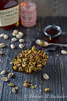 #Easy treat to snack on during your outdoor festivities! Bourbon Maple Toasted #Pistachios from @Jean Pope | Lemons & Anchovies