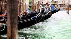 Gondolas rocking on the waves near Piazza San Marco in Venecia, Italy by www.creativephototeam.com Canon 5D Mark II + Sigma 2.8 70-200