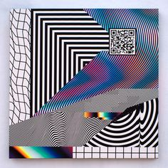 Impossible Collaboration, Felipe Pantone #glitch #opart in Graphic
