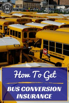 """One of the most FAQ in the Skoolie community is, """"How do I get school bus conversion insurance? Learn more about Skoolie insurance here.. via @discoveringus9"""