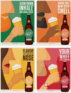 Hop Freshener Series Experiences for Mankind wanted to design packaging for The Hop Concept that would bring beer back to the essentials: aroma and flavor. The result is a beer and design that enthusiasts and novices alike will love. Logos Vintage, Logos Retro, Vintage Posters, Beer Packaging, Food Packaging Design, Logos Color, Logos Photography, Brewery Design, Beer Poster
