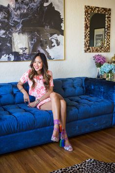 TheFashionlish Home Tour Aimee Song Love That Couch