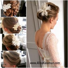 and for Tatyana's Happy wedding day! Happy Wedding Day, Hair Piece, Updos, Bridesmaids, Hair Makeup, Feather, Braids, Hair Styles, Instagram Posts