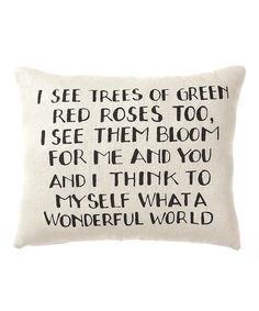 Cuddle up with this delightfully cozy pillow that will add charm and romance to any room. With playful words standing out against a simple white background, it's a perfect conversation starter for tales of true love.10'' W x 8'' H x 2.5'' DCanvas / poly-fillImported
