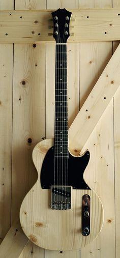 Pine Body Les Paul Jr Telecaster Electric Guitar