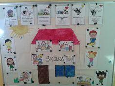 Skolka a pravidla  Začátek školního roku a učíme se pravidla, co děláme ve školce, ... September, Classroom, School, Frame, Pictures, Motto, Ms, Decor, Class Room
